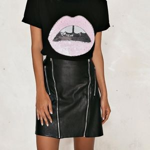 nasty gal julia vegan leather skirt